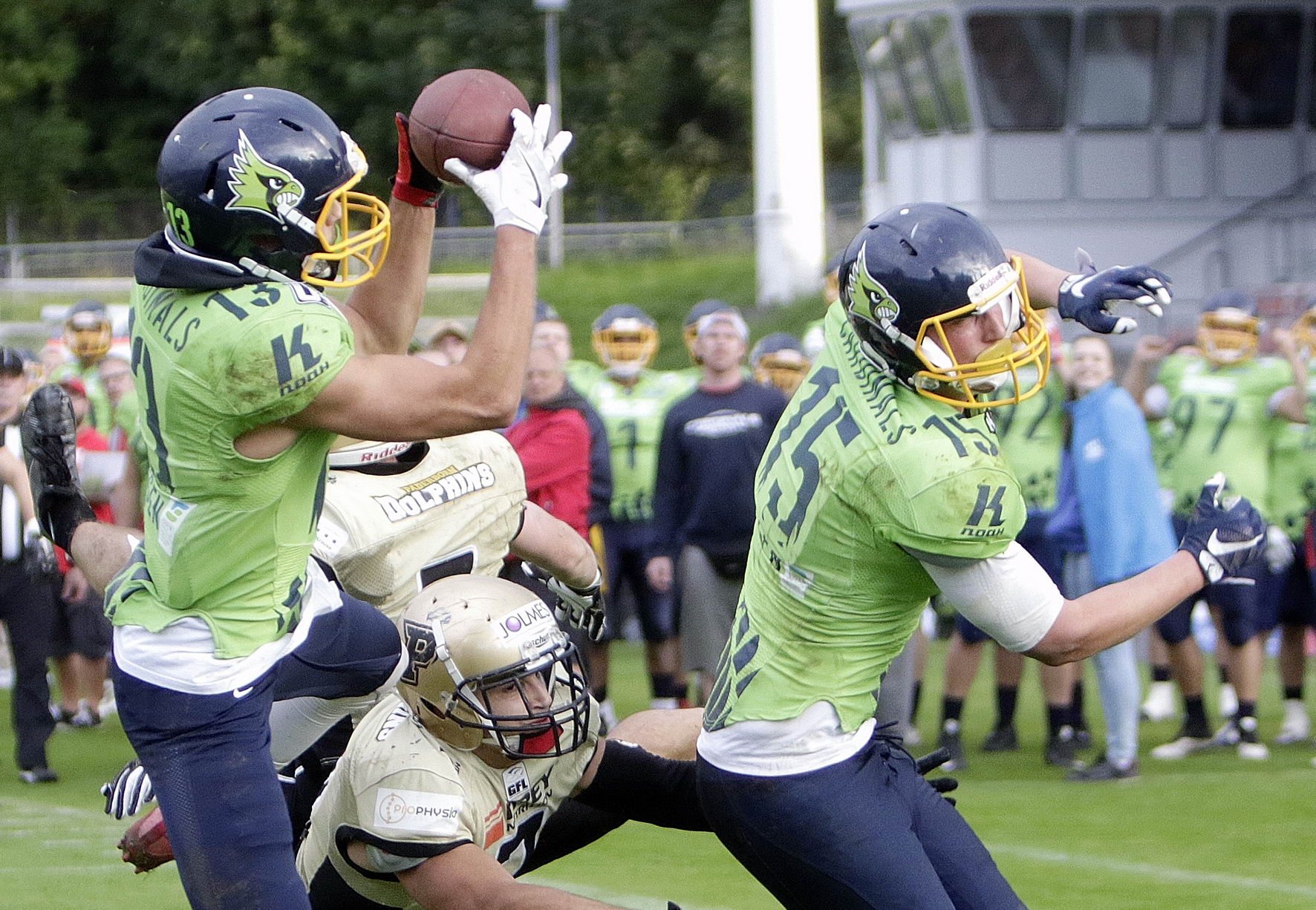 Touchdown durch Yannik Baumgärtner