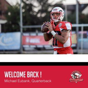 Michael Eubank bleibt für eine weitere Saison Quarterback der Stuttgart Scorpions.