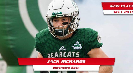 Jack Richards neuer DB bei den Kirchdorf Wildcats